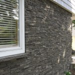 Faux stone siding slate stone iron panel