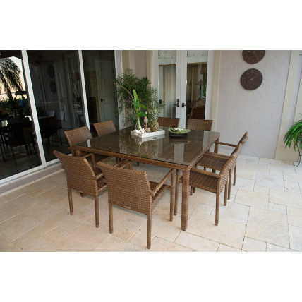 Patio furniture dining set St Barths Panama Jack BuildDirect