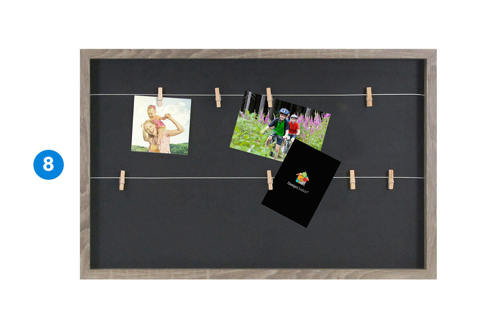 DesignOvation Wire with Clothes Pin Picture Frame