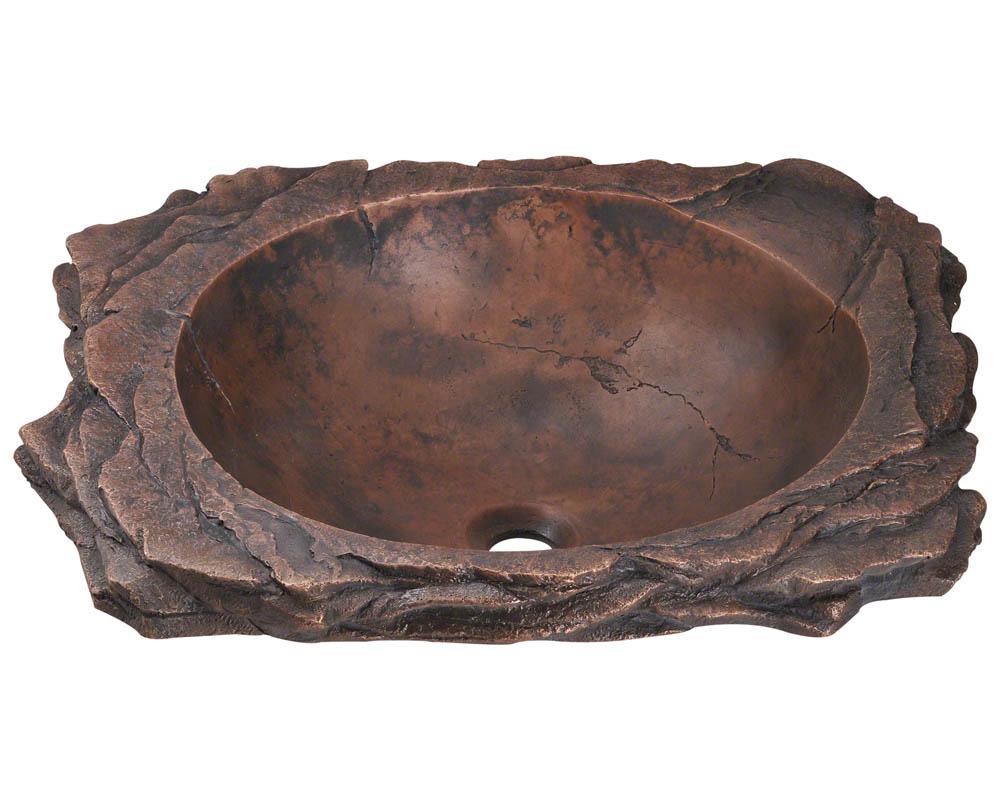 """Polaris Sinks Bronze Sinks Topmount / 23"""" x 19"""" x 6.25"""" / Bronze / P269"""