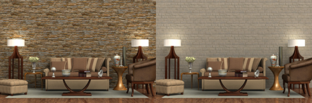 ledgestone paneling vs brick paneling