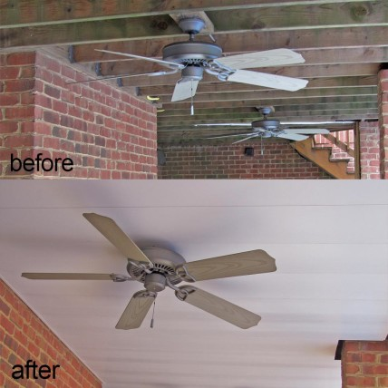 under deck ceiling before vs after