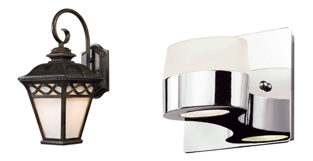 traditional vs modern sconces