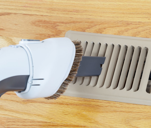 vacuuming floor vent