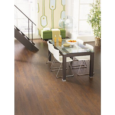 barnwood floor living area