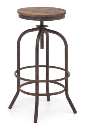 Zuo Modern Distressed Natural Barstool SKU 15049381