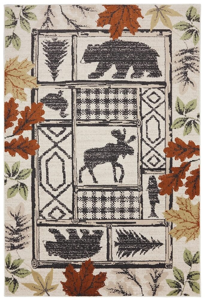 autumn themed area rug