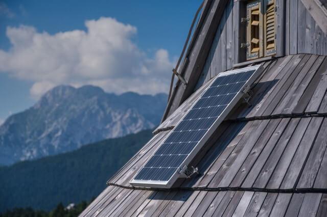 solar shingle on alps roof