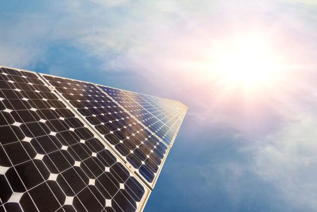solar panel in sunshine