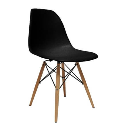 fine mod black dining chair