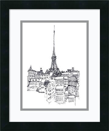 Amanti Art Avery Tillmon 'Eiffel Tower' Framed Art