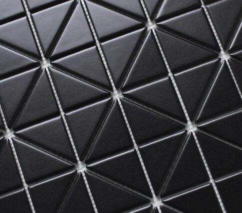 "ANT TILE Triangular Pure Black / 2-1/3""x1-2/3"" / Matte   SKU: 15139471"