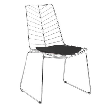 Fine Mod Imports Wire Leaf Chair, Black SKU: 15043425