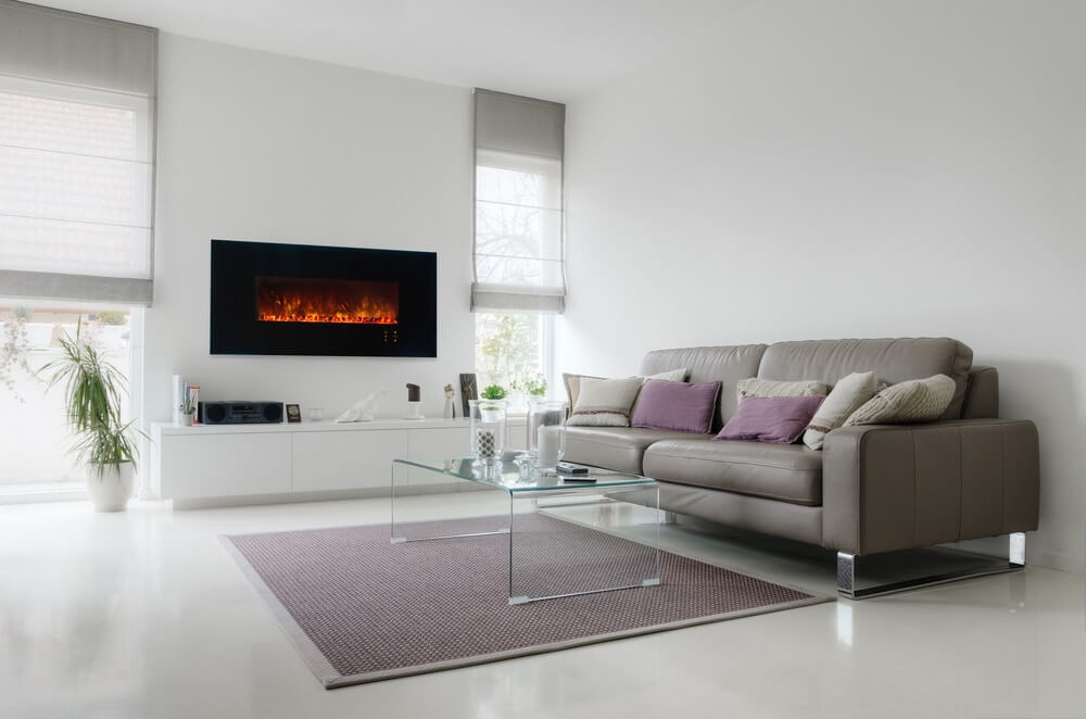 modern flames wall mounted fireplace