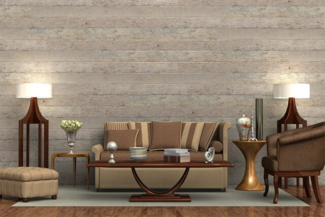 "Carrick Wall Paneling - Decorative Print Collection Rustic White Wood / 5.7"" x 8' x 9.5mm  SKU: 10102185"