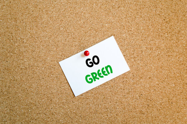 go green cork board