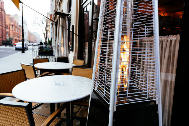stand alone patio heater