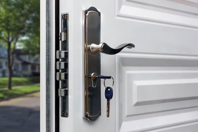 locked open door