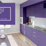 ultra violet pantone kitchen