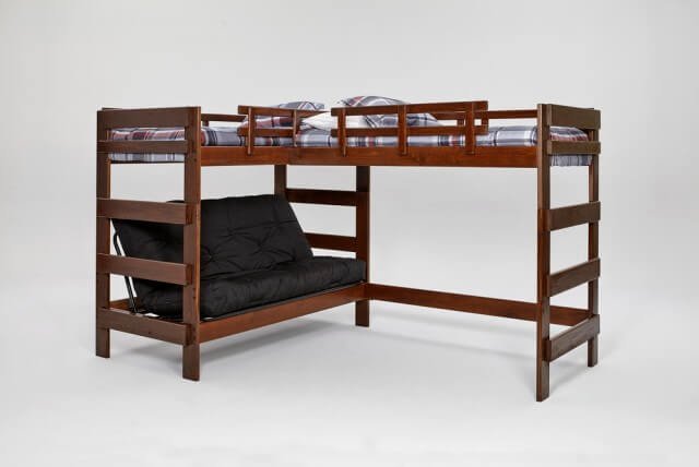Woodcrest Heartland L-Shaped Futon Bunk SKU: 15237209
