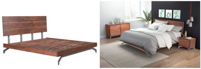 Zuo Modern Perth King Chestnut Platform Bed SKU: 15181106