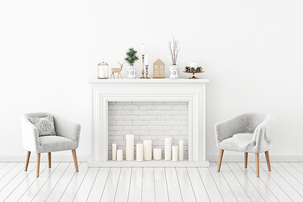 Fireplace mantel décor style