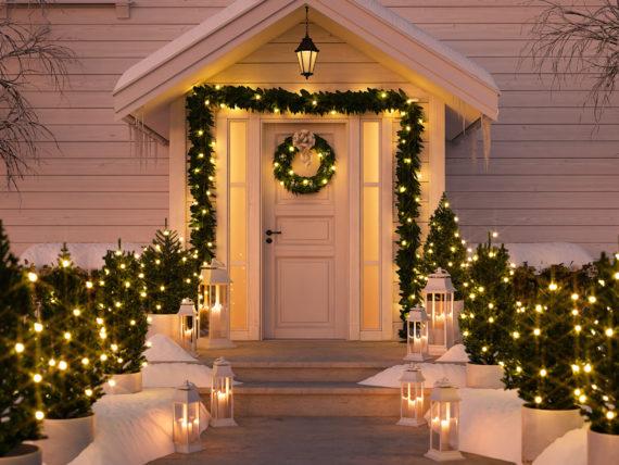 front door in winter