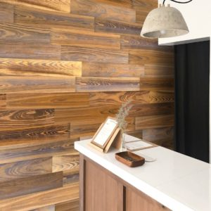 alternate uses for flooring statement wall