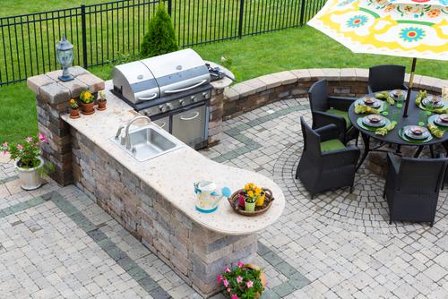 create an outdoor kitchen